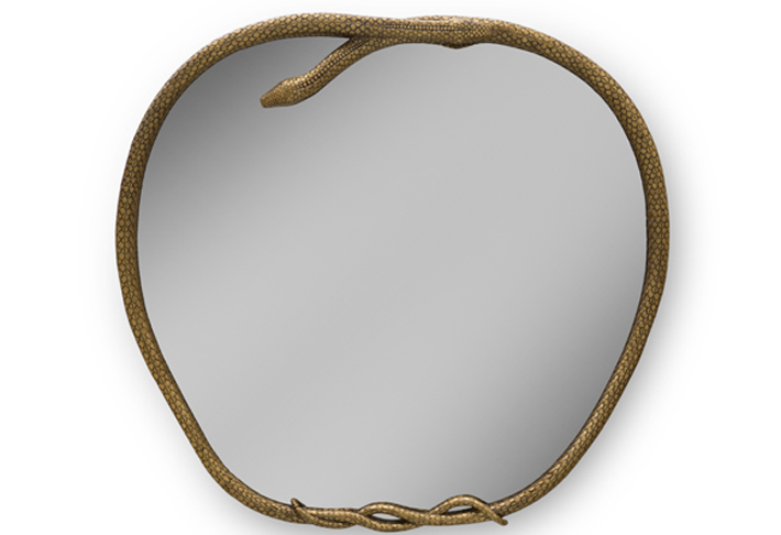 Serpentine II Mirror by KOKET - dark decor ideas