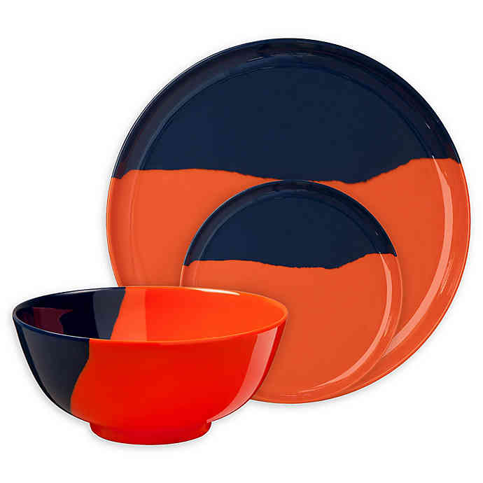 orange 1/2 & 1/2 fall holiday dinnerware Collection by Thomas Fuchs Creative