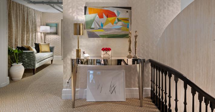 4th Floor Hallway by Nicola Rosendorff Interiors
