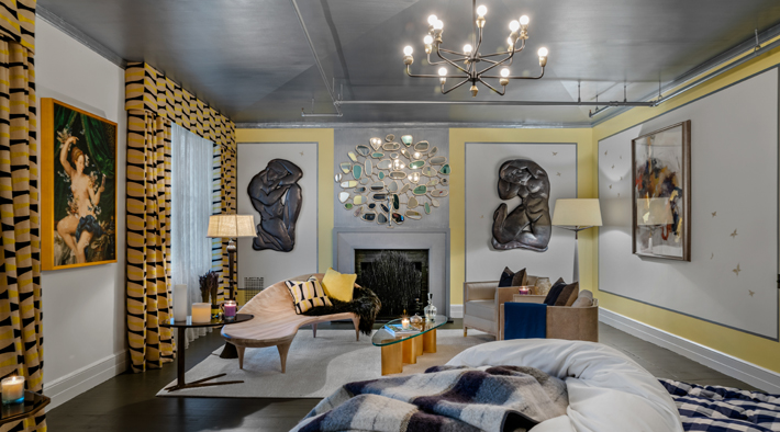 3rd Floor Master Bedroom by Bjorn Bjornsson Interior Design at holiday house nyc 2019