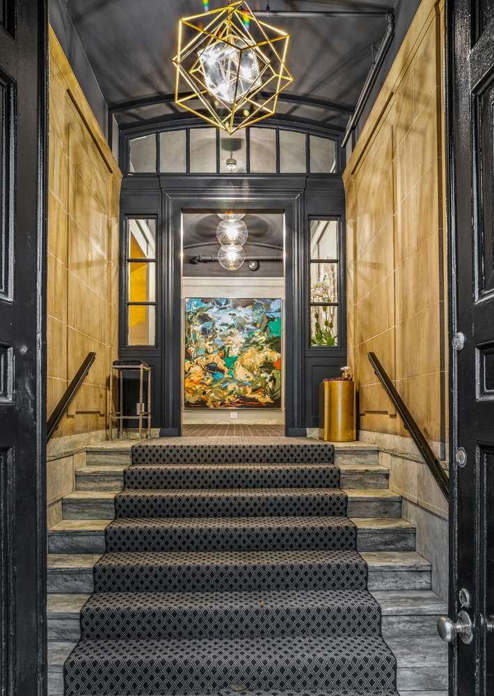 1st Floor Foyer by Lauren Berry Interiors & Homes at holiday house nyc 2019