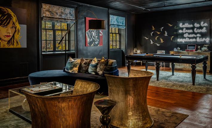 Master Lounge by Vanessa Deleon Associates holiday house nyc 2019