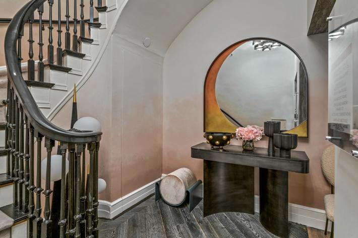 Stairway to 3rd Floor Master Bedroom by Bjorn Bjornsson Interior Design