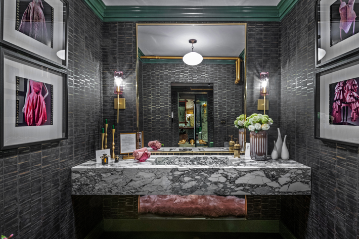 """""""Think Pink"""" Powder Room by MHM Interiors"""