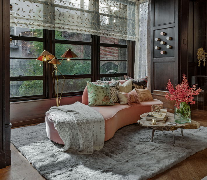 Dining Room sitting area by Elsa Soyars Interiors