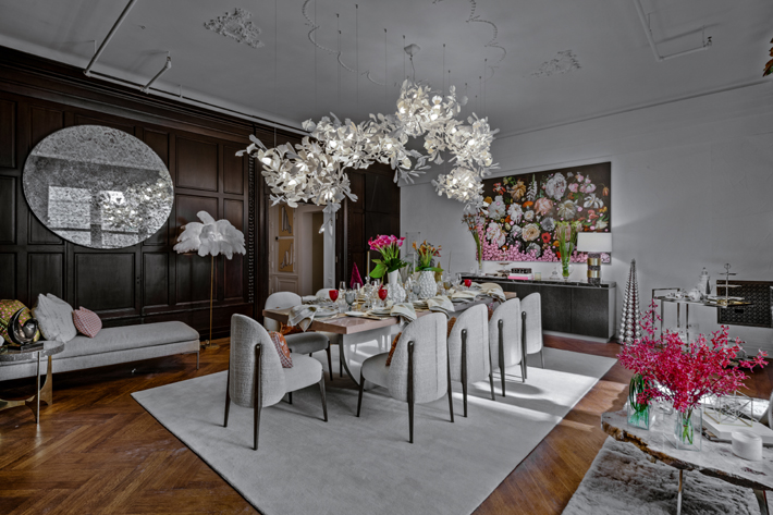 1st Floor Dining Room by Elsa Soyars Interiors holiday house nyc 2019