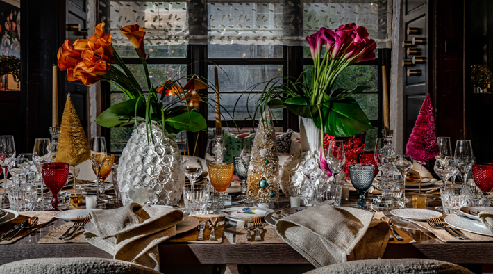Dining Room table setting by Elsa Soyars Interiors