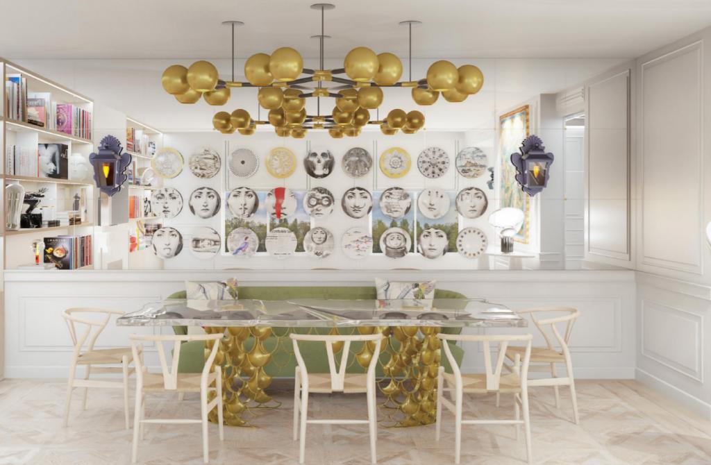 luxury Apartament dining room design Estoril inez fino