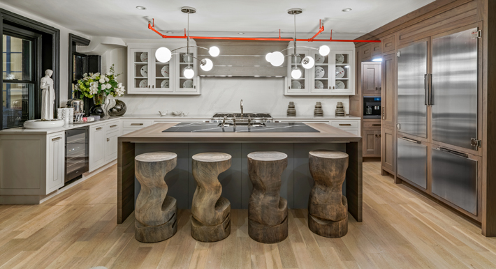 Kitchen Cabinetry by Bakes & Kropp, Design by Baltimore Design Group at holiday house nyc 2019