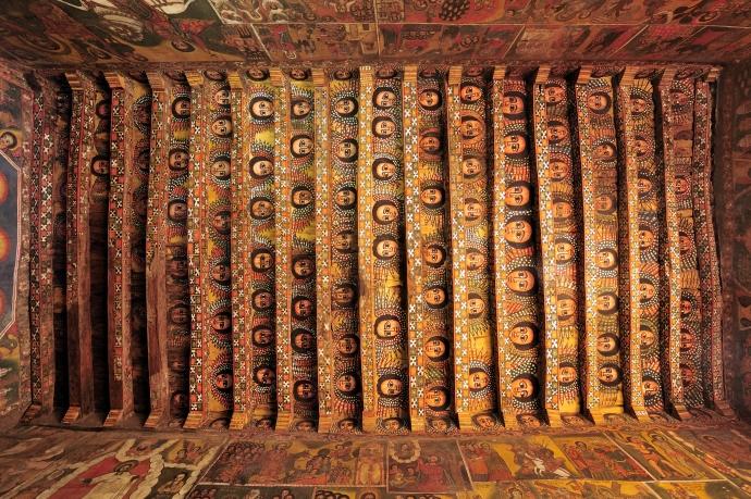 Beautiful ceiling design in Gondar, Ethiopia.