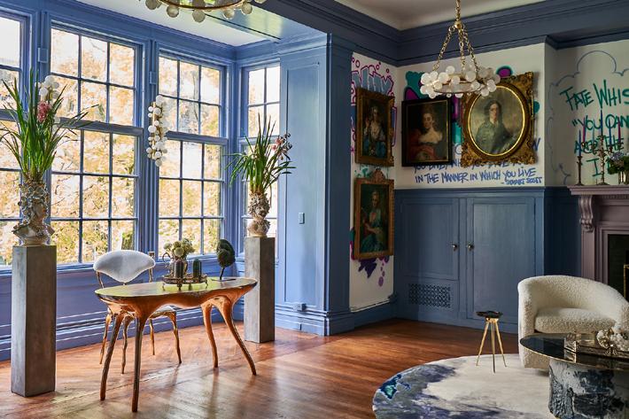 2nd Floor Living Room Design by Bennet Leifer Interiors