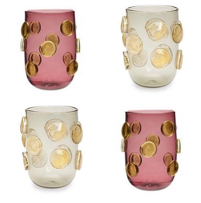 murano hand-blown drinking glasses by thomas fuchs creative