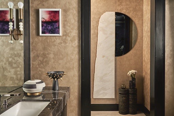 Powder Room by Tara Kantor Interiors