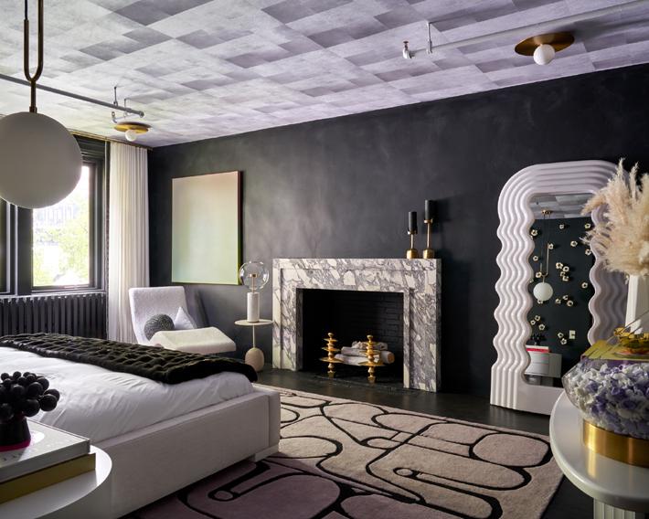 4th Floor Bedroom by Hilary Matt Interiors at holiday house nyc 2019