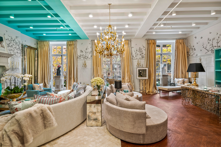 2nd Floor Salon Design at the holiday house nyc 2019 by Ally Coulter Designs - Photo by Alan Barry Photography