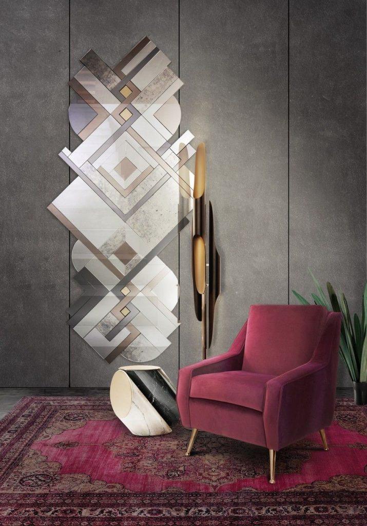 art deco design art mirror - lemprica by koket
