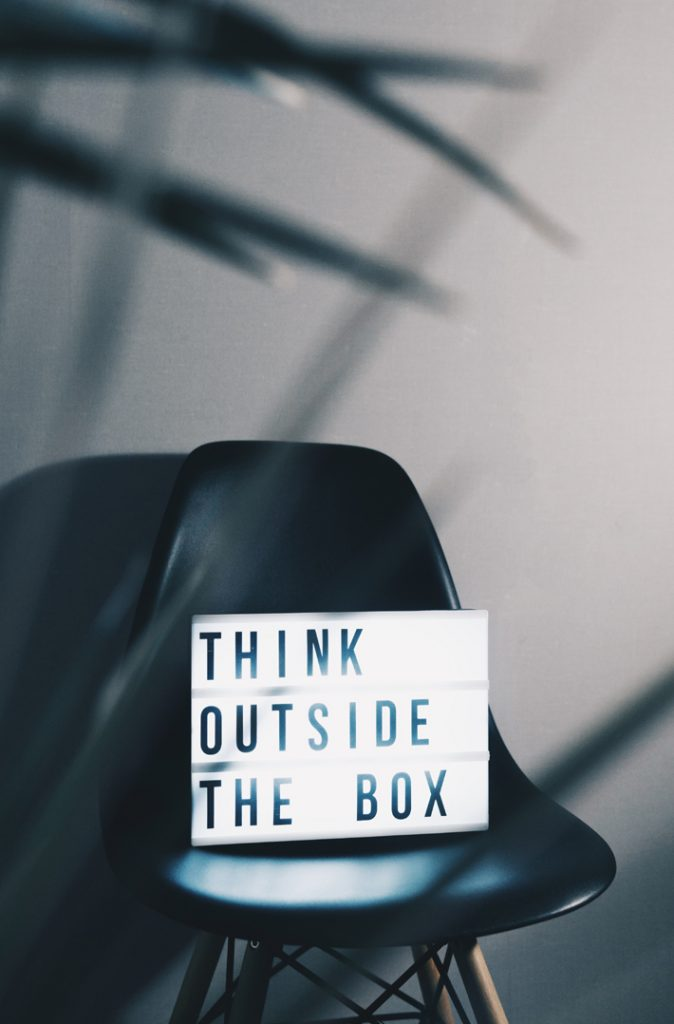 think outside the box on your next project - photo nikita kachanovsky unsplash