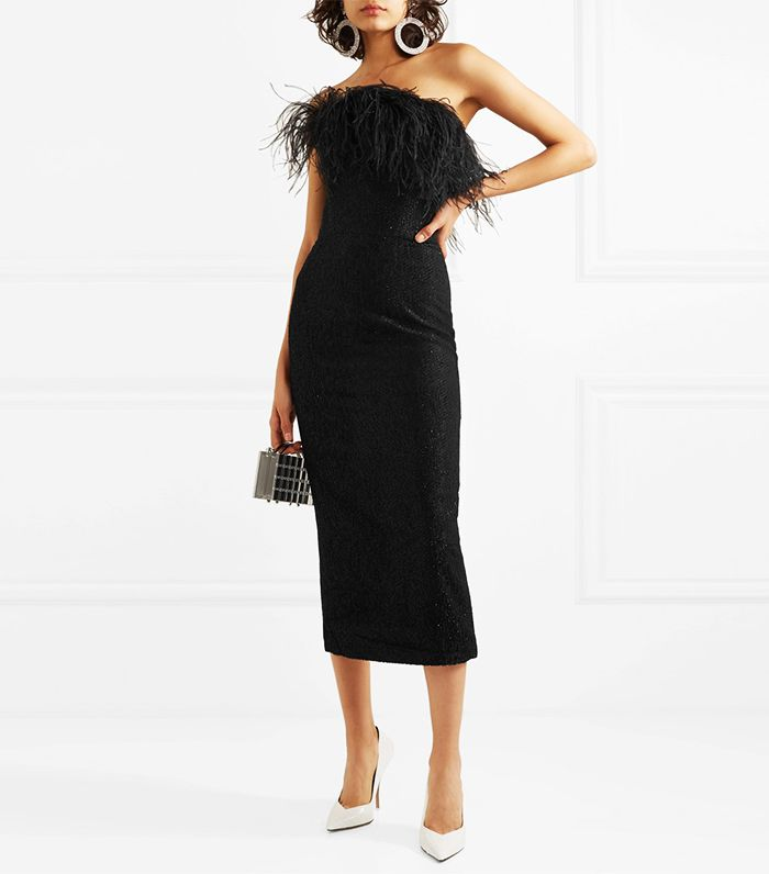 black feather dress by 16arlington from net a porter - Winter Outfit Ideas for your Holiday Parties