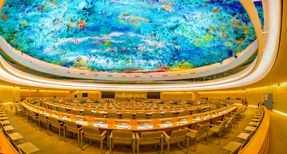 Beautiful ceiling design in Geneva, Switzerland.