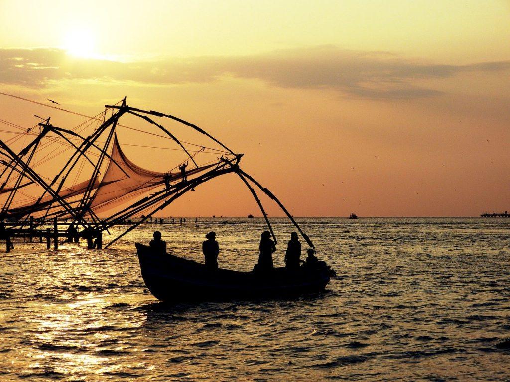 Chinese fishing nets in Cochin, India