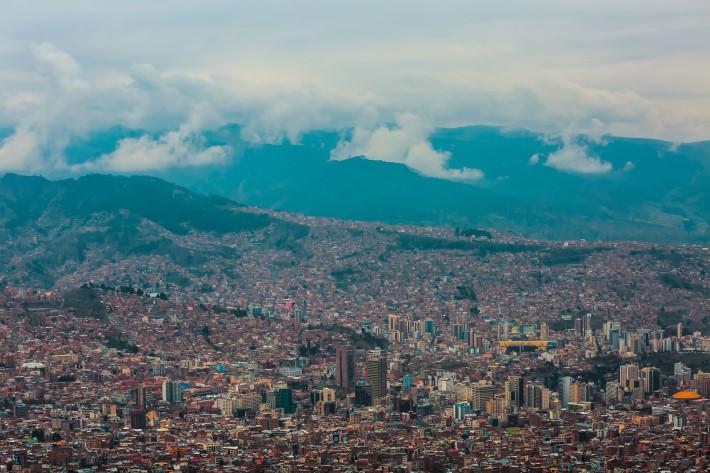 La Paz, Bolivia view