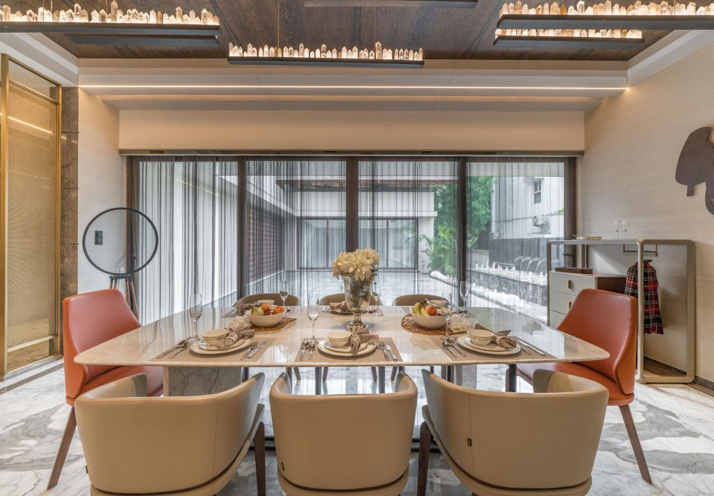 contemporary dining room design by baheti & associates
