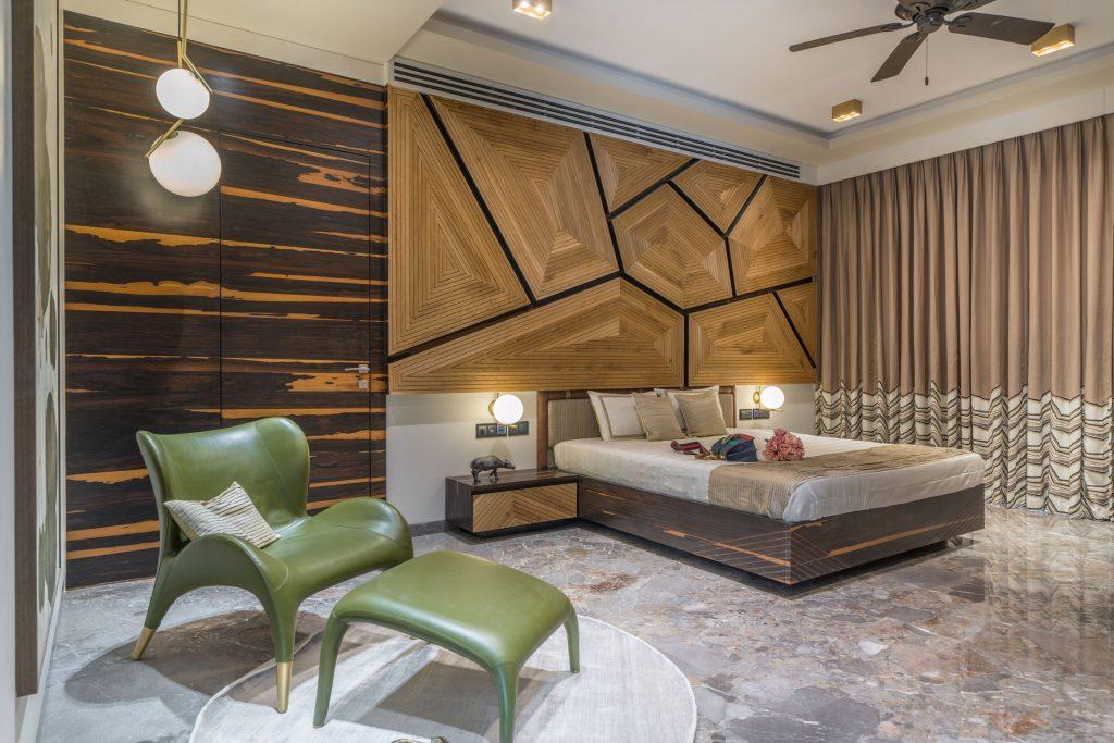 unique bedroom design by baheti & associates