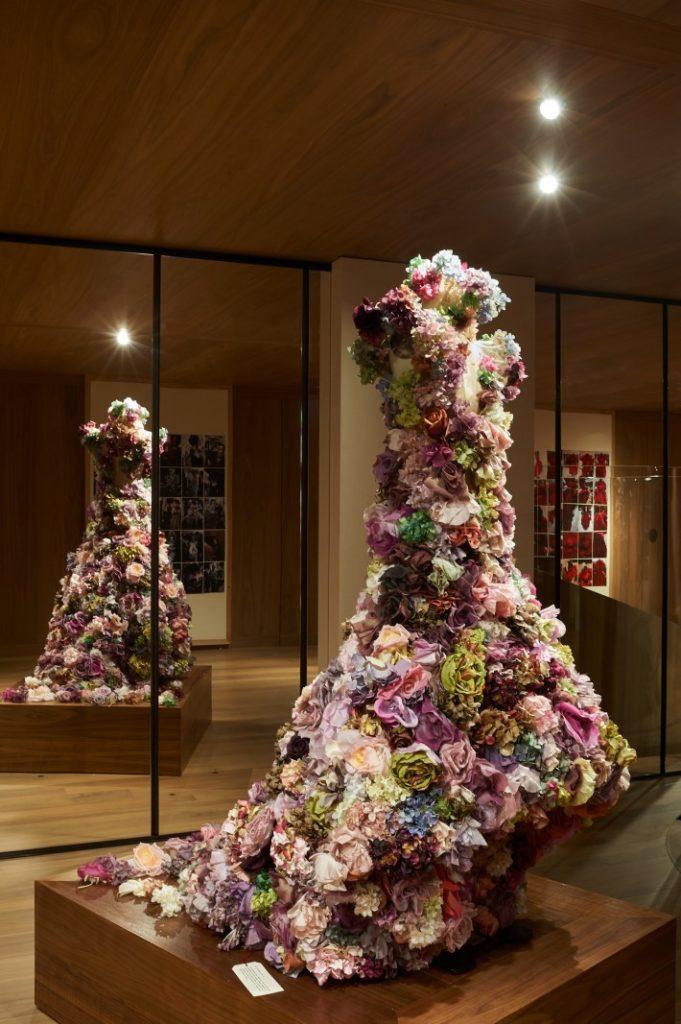 fresh flower dress by Lee Alexander McQueen