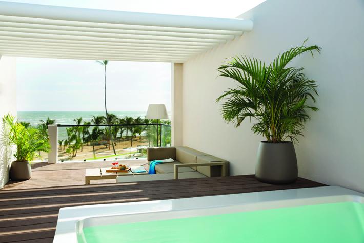 A rooftop terrace suite at Excellence El Carmen