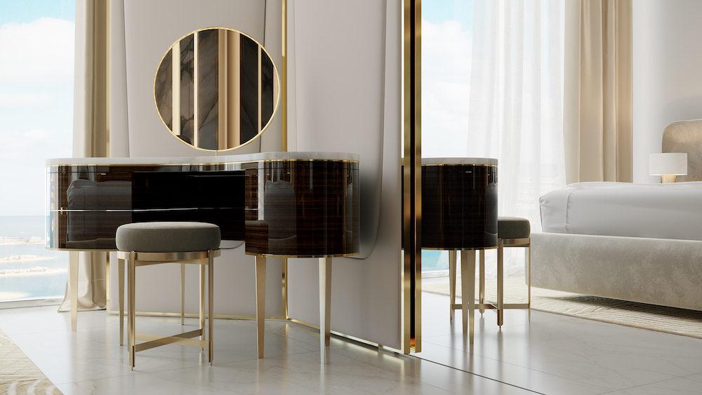 glamorous vanity table