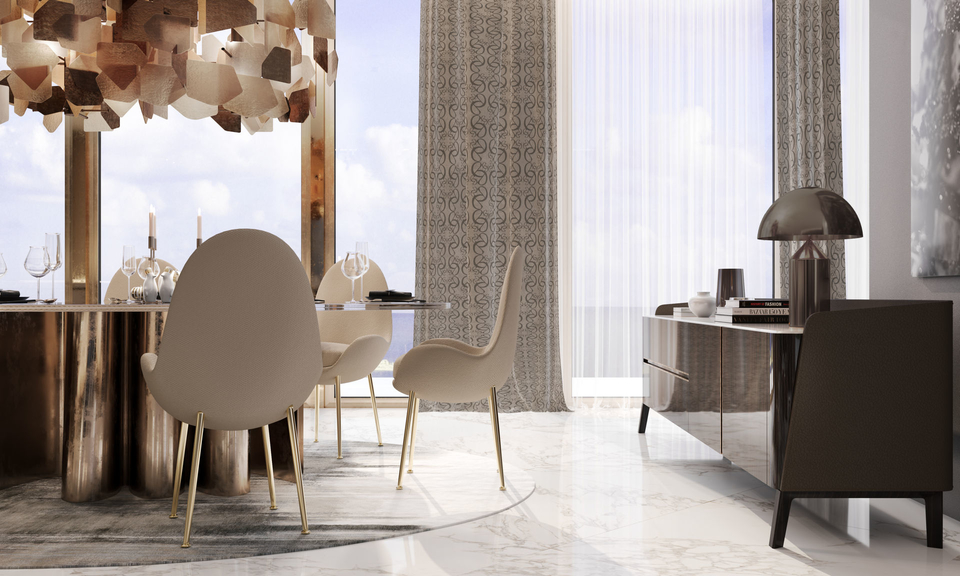 elie saab furniture in a dining room setting
