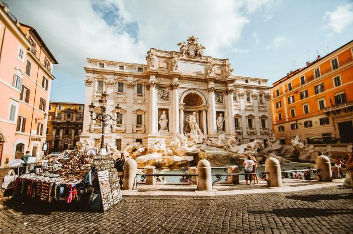 Trevu Fountain in Rome