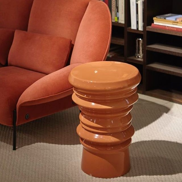 VIBRATO by Christian Ghion for Cinna - small orange side table