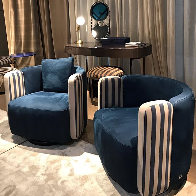 fendi casa classic blue pantone 2020 chairs - interior decorating ideas