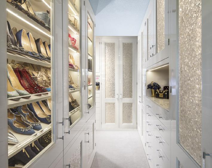 white dream closet design