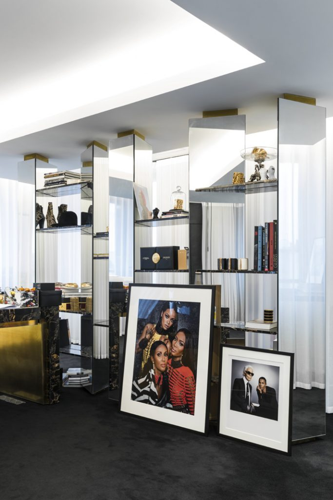 Office of Olivier Rousteing, the artistic director of Balmain. Designed by Studio AMV. (Photo by Romain Ricard / Courtesy of Studio AMV)
