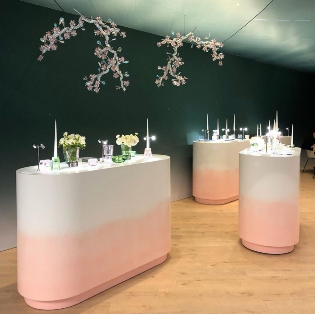 Atelier Swarovski maison et objet paris 2020 - pastel color trends - nature inspired lighting