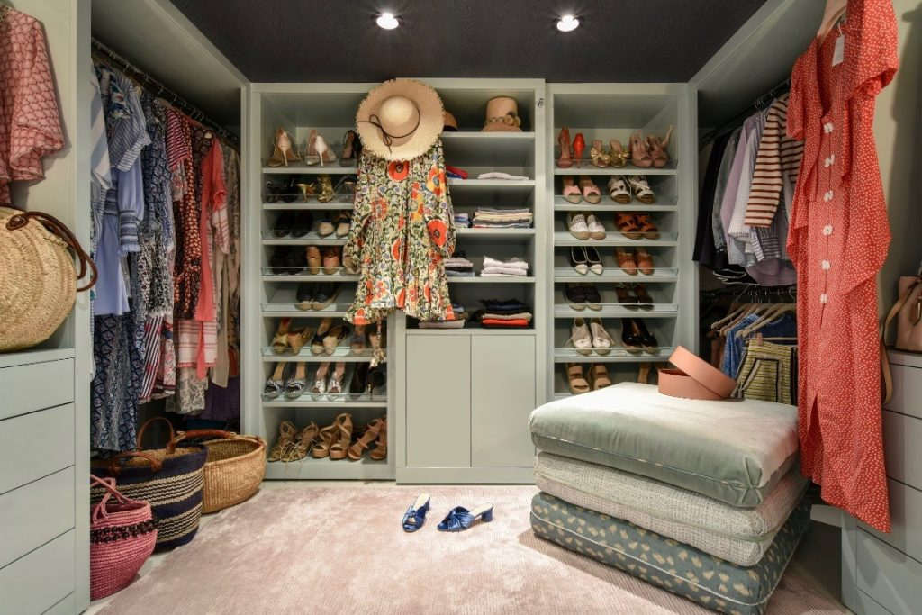 melanie fowler closet in her palm beach home - photo by thomas loof for house beautiful