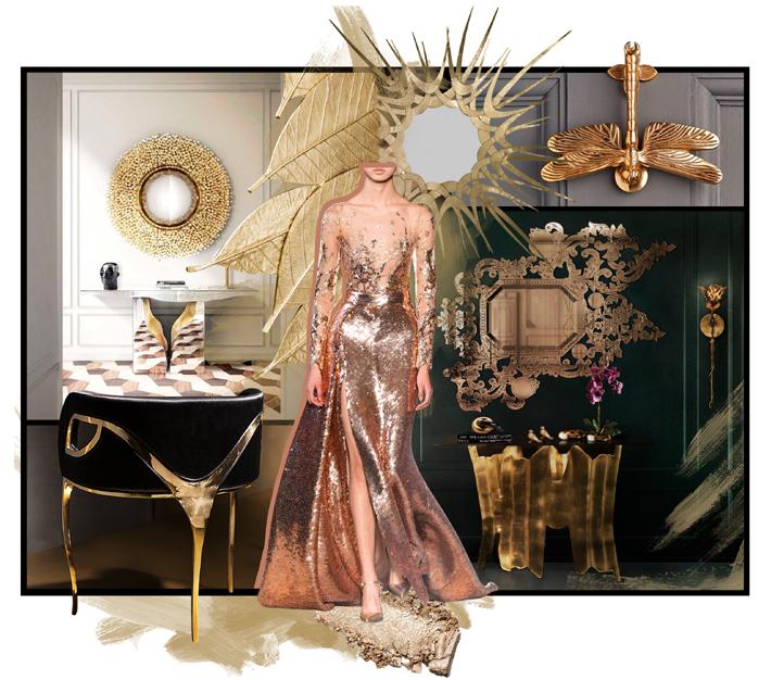 aristocratic colored metals - metallic interior design inspiration - koket