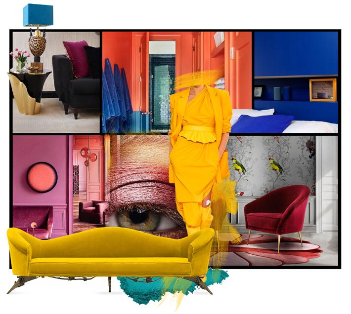 bold color interior design inspiration by koket
