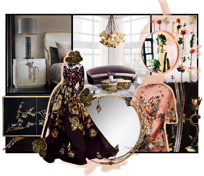 floral mood board by koket - interior design inspiration 2020