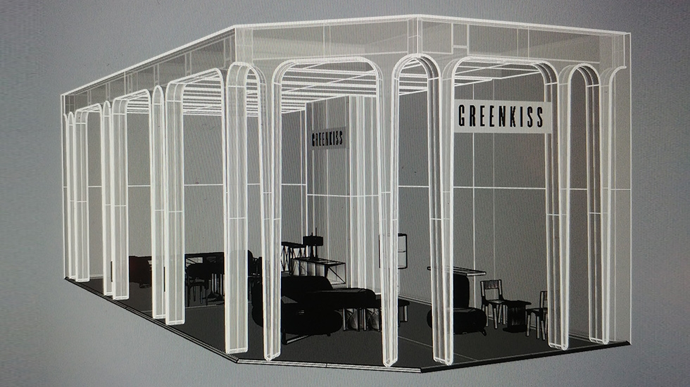 greenkiss by hubert de malherbe, thierry lemaire & paolo castelli - maison & objet paris 2020 installation