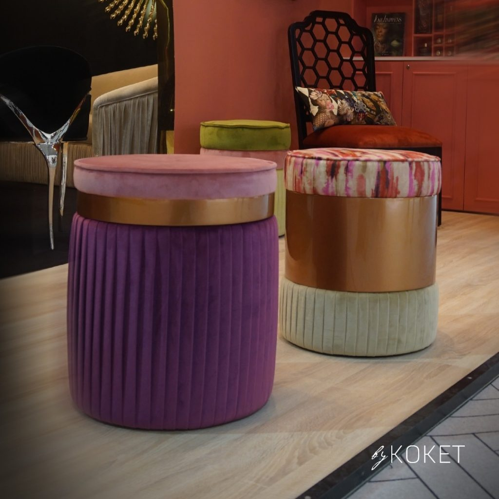 kk by koket poufs - interior decorating ideas