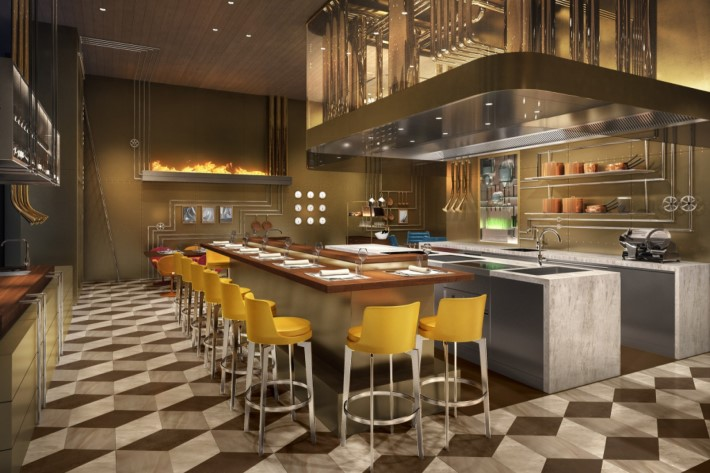 Rendering of the new Louis Vuitton Restaurant