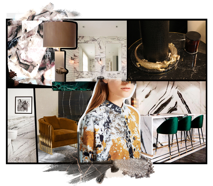 marble mood board by koket - interior design inspiration