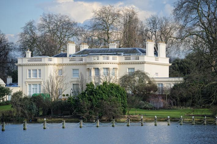 The Holme, a beautiful Grade I listed Regency villa in Regent's Park, London, England, UK, originally designed in 1816-18 by Decimus Burton - royal design