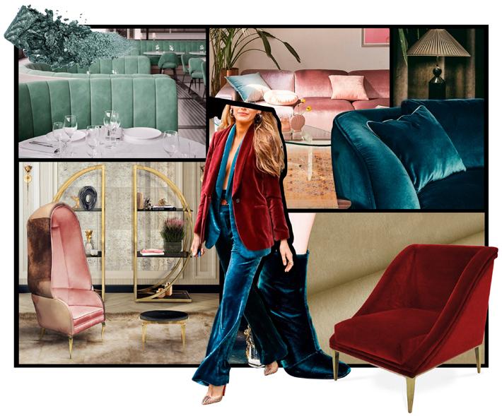 how to use velvet in interior design - koket