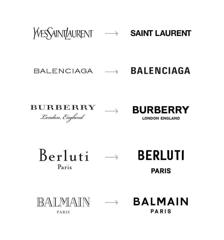 Evolution of some luxury brands logos