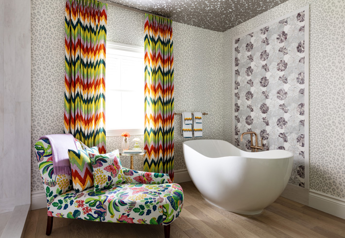 colorful Master Bathroom by Betsy Wentz and Tom Kirchhoff​