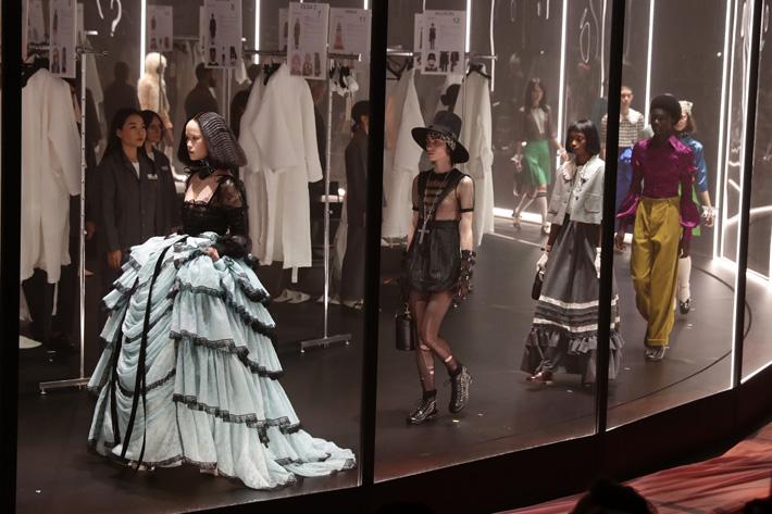 Models walk the runway during the Gucci fashion show as part of Milan Fashion Week Fall/Winter 2020-2021